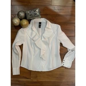 WORK TO WEEKEND white Top size 12